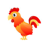 Red rooster. Fiery cock. Symbol of 2017 on the Chinese calendar. Vector illustration Stock Images
