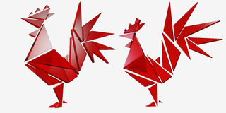 Red rooster. Happy Chinese new year 2017 Stock Photo