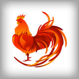 Red rooster. Happy Chinese new year 2017. Vector Stock Photo