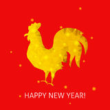 Red Rooster Happy New Year Stock Image