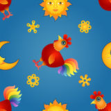 Red Rooster Seamless2 Stock Image
