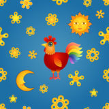 Red Rooster Seamless Stock Image