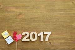 Red rooster, symbol of 2017 on the Chinese calendar Stock Image