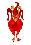 Red Rooster, symbol of 2017 on the Chinese calendar. Vector illustration of Red Rooster, symbol of 2017 on the Chinese calendar Royalty Free Stock Photography