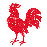 Red Rooster. Symbol of Chinese year zodiac. Stock Photos