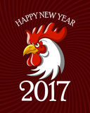 Red Rooster symbol of new year 2017 on the Chinese calendar.Vector illustration. Red Rooster symbol of new year 2017 on the Chinese calendar. Template for Royalty Free Stock Image
