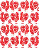 Red rooster on a white background Royalty Free Stock Photography
