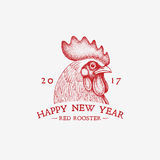 Red rooster year Royalty Free Stock Photo