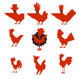 Red roosters Royalty Free Stock Photography