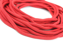 Red Rope. Isolated On White Background Stock Photo