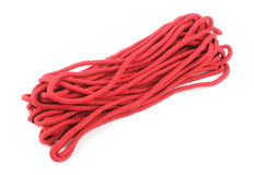 Red Rope. On White Background Stock Image