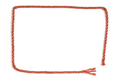 Red Rope Border Stock Photo
