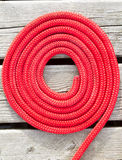 Red rope circle. Royalty Free Stock Photography