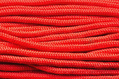 Red rope close-up Royalty Free Stock Photography