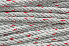 Red rope close-up for background and texture Royalty Free Stock Image