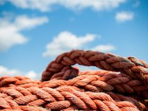 Red rope close up royalty free stock photography