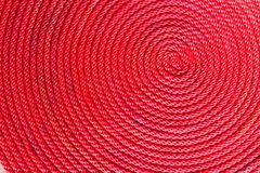 Red rope coil Stock Image