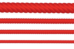 Red Rope Collection Stock Image