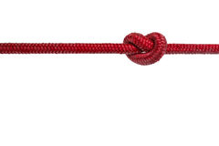 Red rope with knot Royalty Free Stock Photography