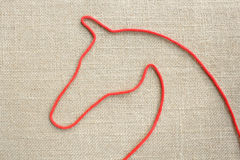 Red rope made ��of horse Royalty Free Stock Image