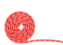 Red rope spiral Royalty Free Stock Photos