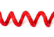 Red Rope . Stock Photo
