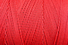 Red rope texture Stock Photo