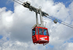 Red ropeway from in High Tatras, Slovakia Royalty Free Stock Image