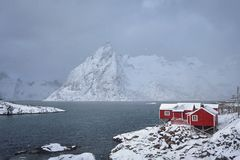Hamnoy fishing village on Lofoten Islands, Norway royalty free stock images
