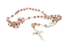 Red rosary Stock Photos