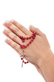 Red rosary Royalty Free Stock Photography