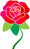 Red rose. Illustration art of red rose with isolated background Royalty Free Stock Images