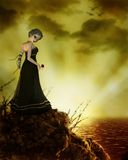Red Rose. Fantasy art for your projects royalty free illustration