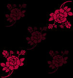 Red rose. Work with vectors,illustration Royalty Free Stock Photos