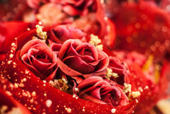 Red rose abstract. Fake rose red abstract wallpaper or card Stock Photos
