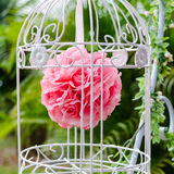 Red rose in the bird cage Stock Images