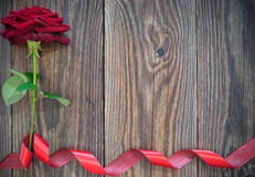 Red rose border background Royalty Free Stock Images
