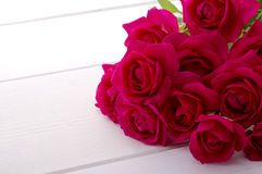 Red rose bouquet. Rose bouquet on white background Royalty Free Stock Photography