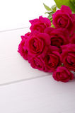 Red rose bouquet. Rose bouquet on white background Royalty Free Stock Image