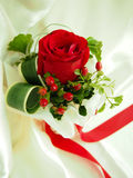 Red Rose Bouquet for my Valentine. Red Rose Bouquet  with Red Ribbon Stock Photo