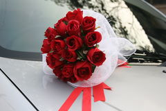 Red rose bouquet Stock Photography