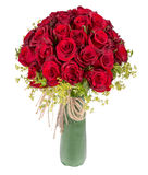 Red rose bouquet on white background Royalty Free Stock Images