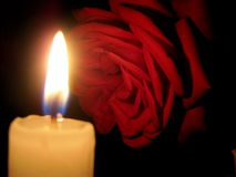 Rose Candle Stock Photography