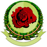 Red rose cartoon logo Royalty Free Stock Photos