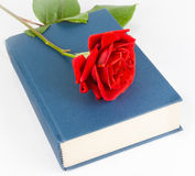 Red rose on the closed book Royalty Free Stock Images