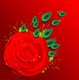Red rose in 3D Stock Photo