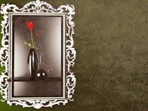 A red rose in the dark vase Stock Image