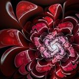 Red rose, digital fractal art design Stock Photography