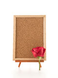 red rose with empty board Royalty Free Stock Photography