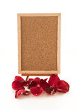 red rose with empty board Royalty Free Stock Photos